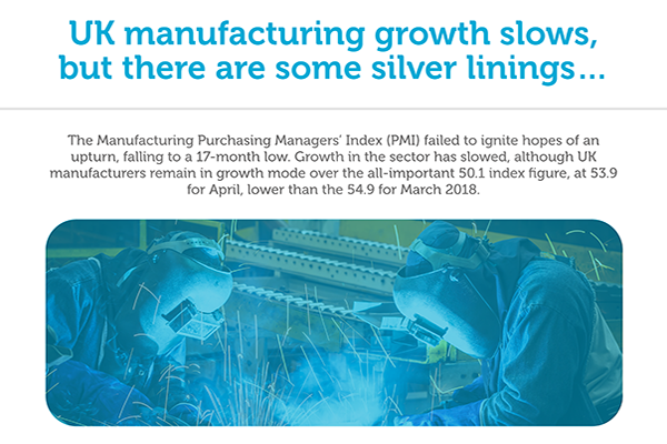 UK manufacturing infographic May 2018