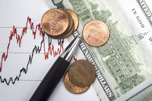 Stock market prices and USD banknote