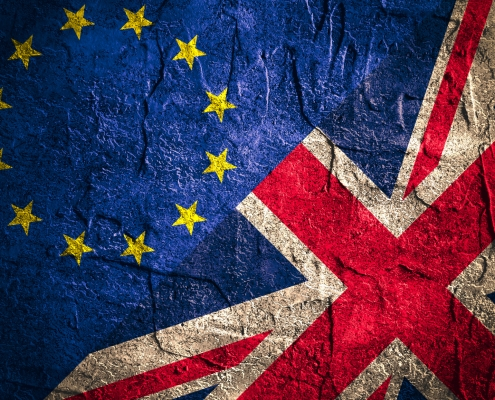 Politic relationship between Europe Union and Great Britain. Brexit concept
