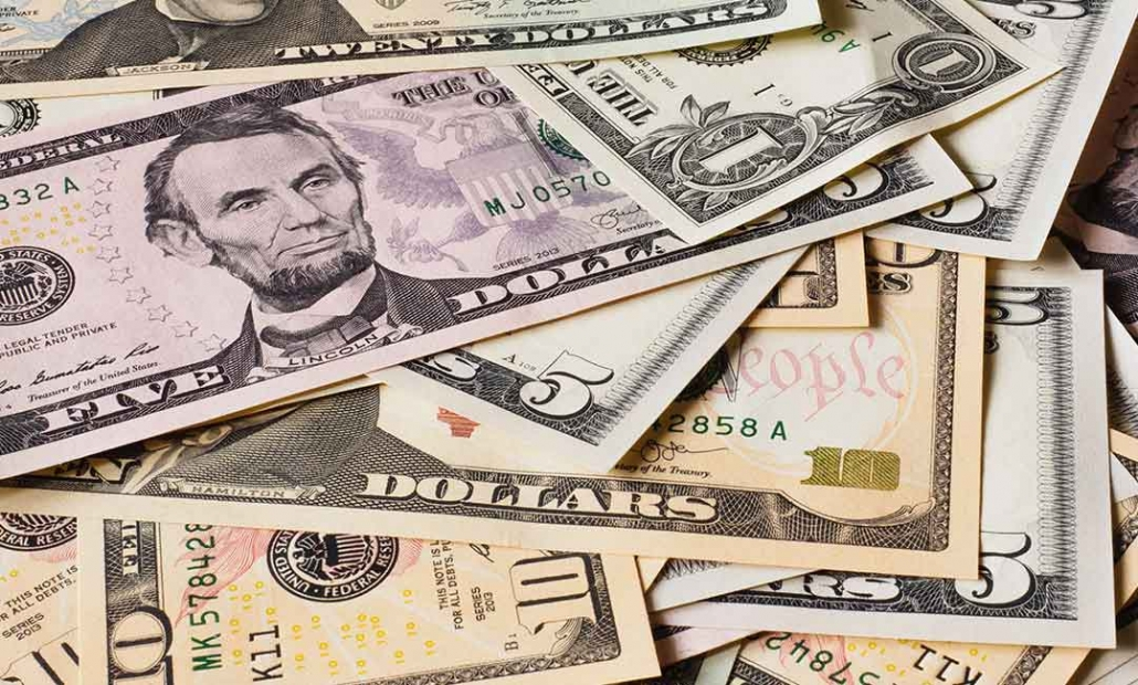 image of us dollars notes